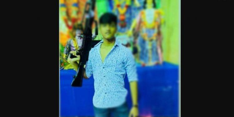 Tripura CM's 17-year-old son seen flaunting an LMG in Durga Puja