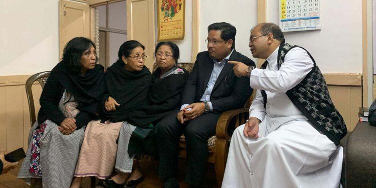 Chief minister Conrad K Sangma at the ancestral home of Archbishop, Dominic Jala at Mawlai Phudmuri. Image credit - Northeast Now