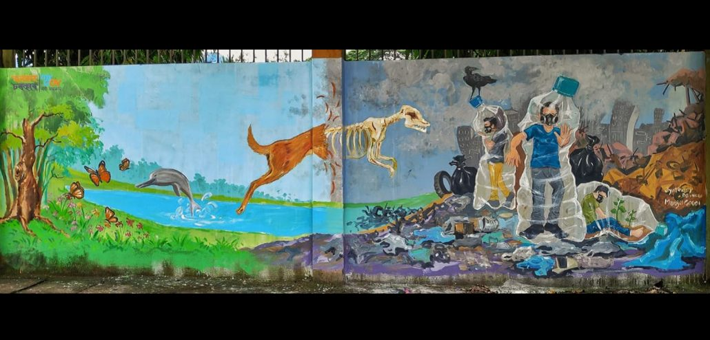 Wall paintings with messages on environment beautify Guwahati 4