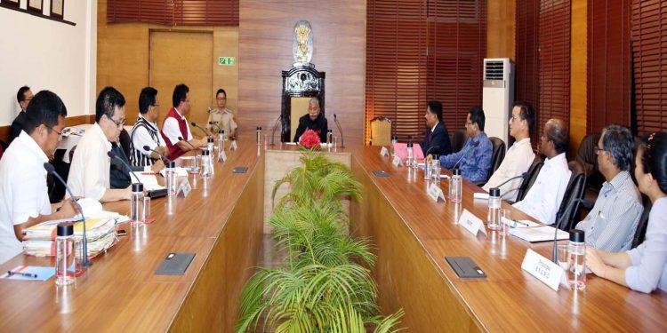Arunachal Guv during meeting
