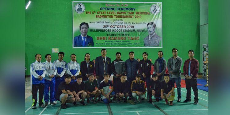 5th Bamin Tani Memorial Badminton Tournament begins in Ziro. Image: Northeast Now