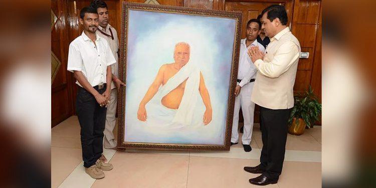 Dilip Bhusan Sarma along with Assam CM Sarbananda Sonowal