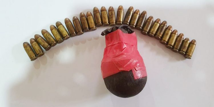 ammunition and grenades recovered from Dosogre