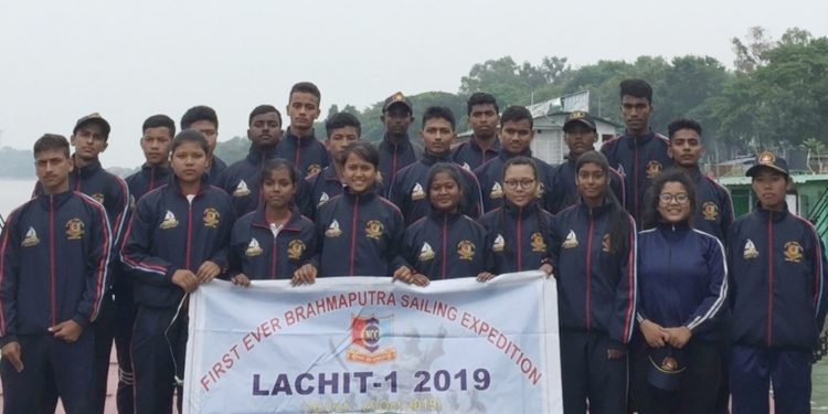 The NCC team that undertook the 220-km Brahmaputra expedition. Image: Northeast Now