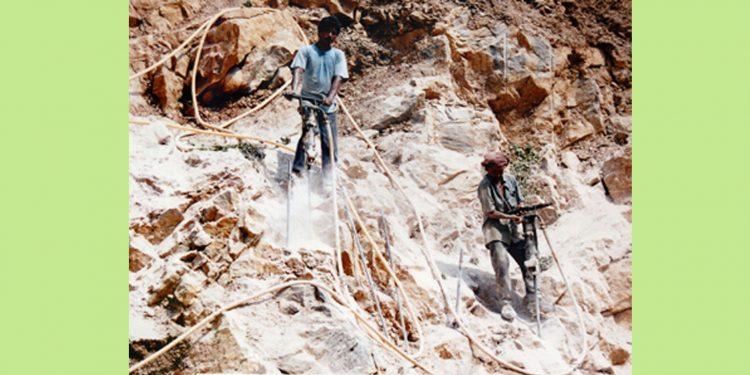 File image of limestone mining in Meghalaya