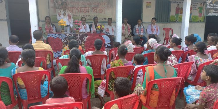Tea garden workers made aware on child marriage and trafficking. Image: Northeast Now