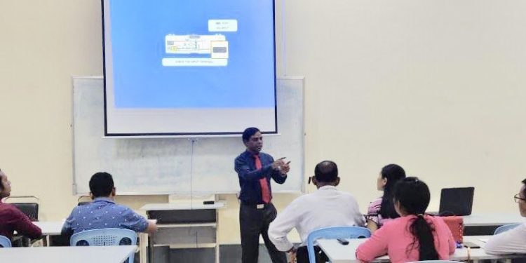 Hindi lessons being imparted at University of Yangon. Image credit: Twitter