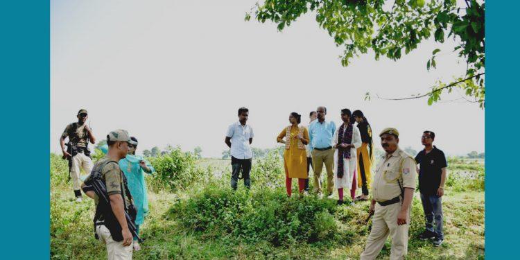 Sivasagar DC Lakshmi Priya and her team while surveying district's tourist places