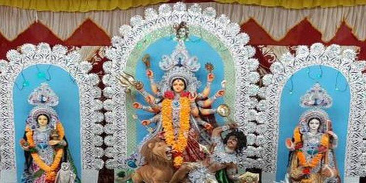 Fiberglass Durga idol. Image credit: The Hindu