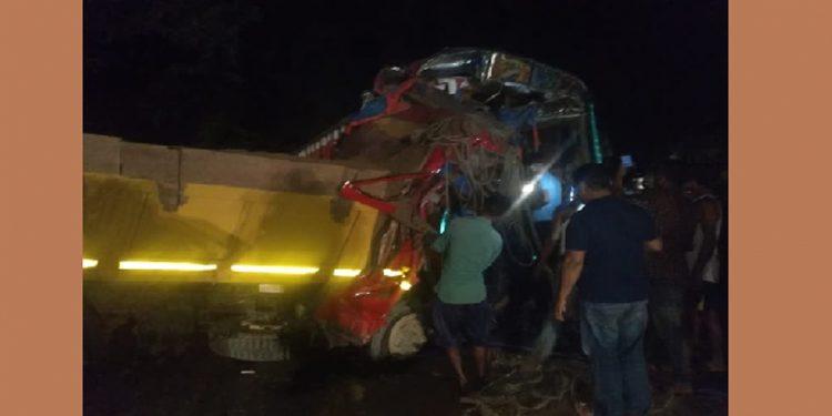 Accident scene in Mirza
