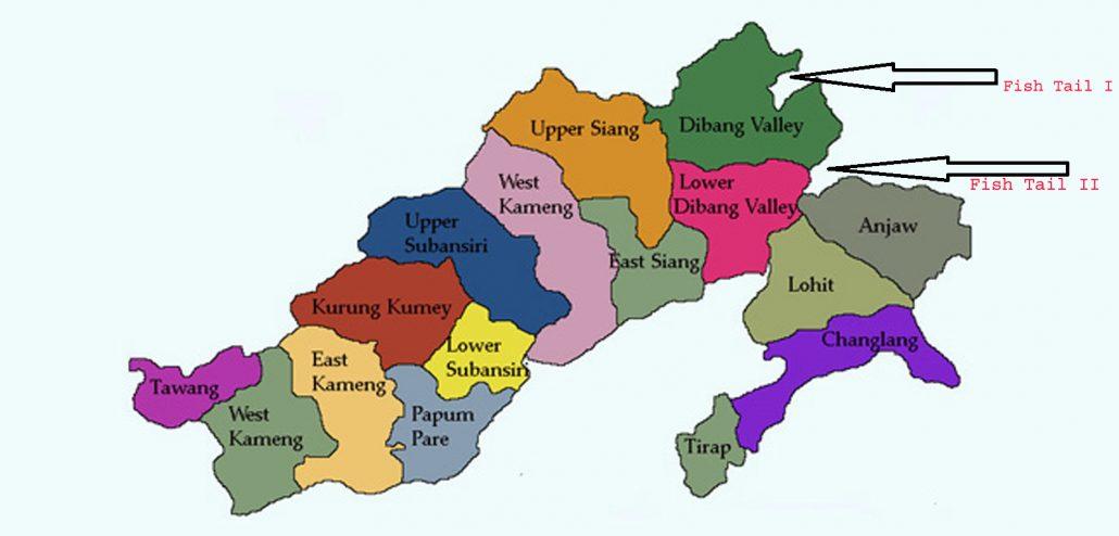 Locations of Fish Tail I, Fish Tail II