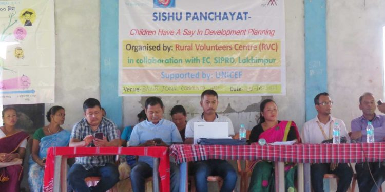 Sishu Gaon Sabha was a new and innovative approach that representatives and PRI officials to ensure effective participation of the children in GPDP planning process.