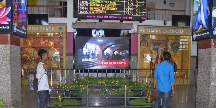During the current year eight digital museums were installed in various stations like Jorhat Town, Lumding, Dimapur and Silchar