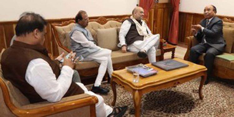 Amit Shah with Zoramthanga