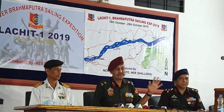 Major General Bipin Bakshi (ADG, NCC, NER) addressing the media
