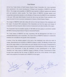Trade unions oppose merger of NEEPCO with other PSUs 4
