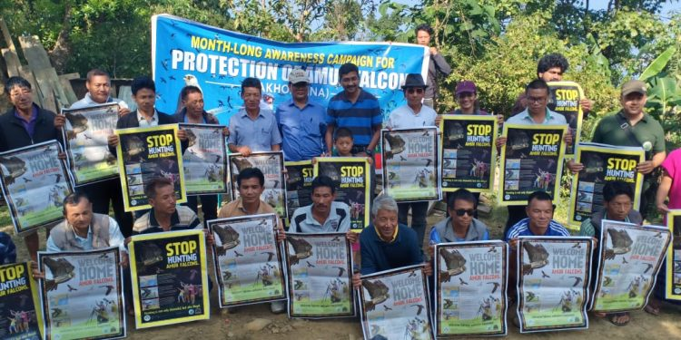 Awareness camp on conservation of Amur falcon in Manipur