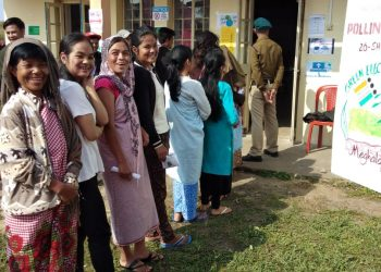 Voters standing in a queue to cast their votes in a polling booth. (File image)