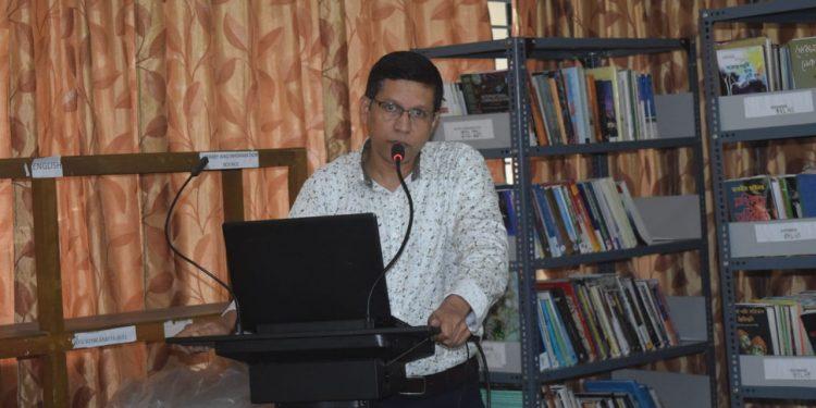 Film critic Manoj Borpujari in Assam Women University