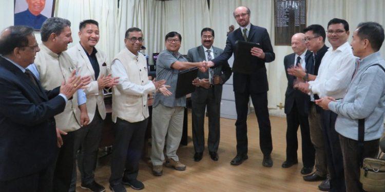 The MoU was signed by RGU's registrar in-charge, Professor Tomo Riba and BUoT rector, Professor Petr Stepanek in presence of RGU vice-chancellor, Professor Saket Kushwaha
