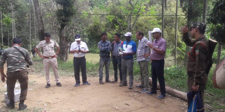 Inspection on in Rajnikhal for the proposed Zoo cum animal rescue centre. Image: Northeast Now