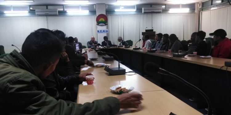 A meeting was also held between NEHU VC Prof SK Srivastava and members of the HYC and NEHUSU leaders on Thursday evening.