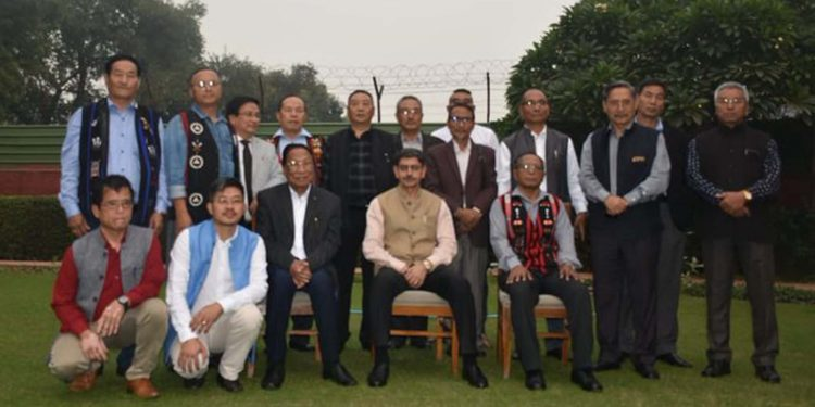 Naga leaders with RN Ravi
