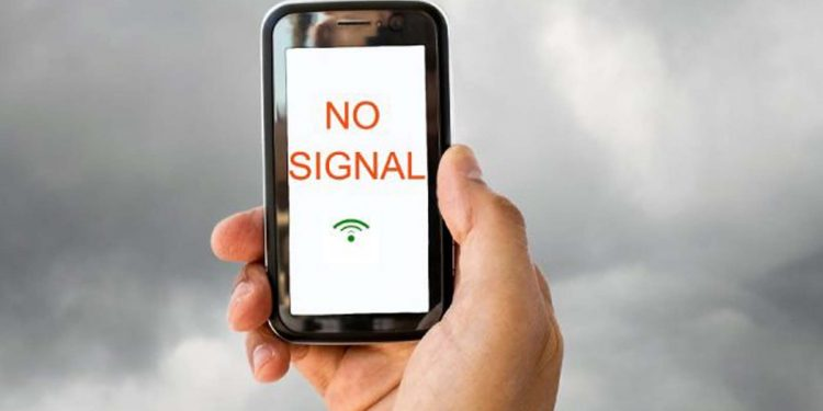 No signal in mobile
