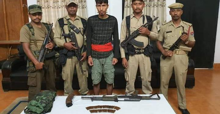 Security forces in joint operation on Saturday nabbed a ULFA (I) rebel from Bordumsa area of upper Assam's Tinsukia district.