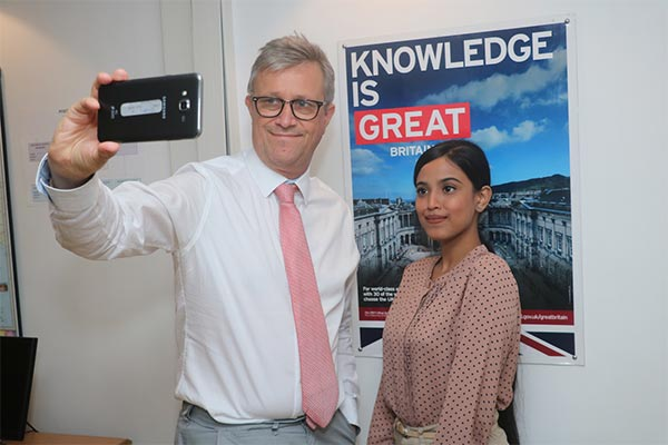Assamese College Girl led British Deputy High Commission for a day 1