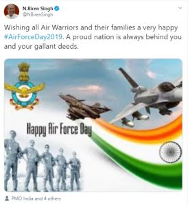 Northeast leaders shower wishes on Indian Air Force Day 3