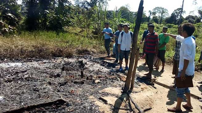 14 houses belonging to Adi community were torched by miscreants on October 15.