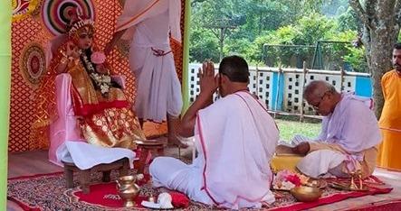 Kumari Puja was started by Swami Vivekananda in 1901 at the Ramakrishna Math in West Bengal.