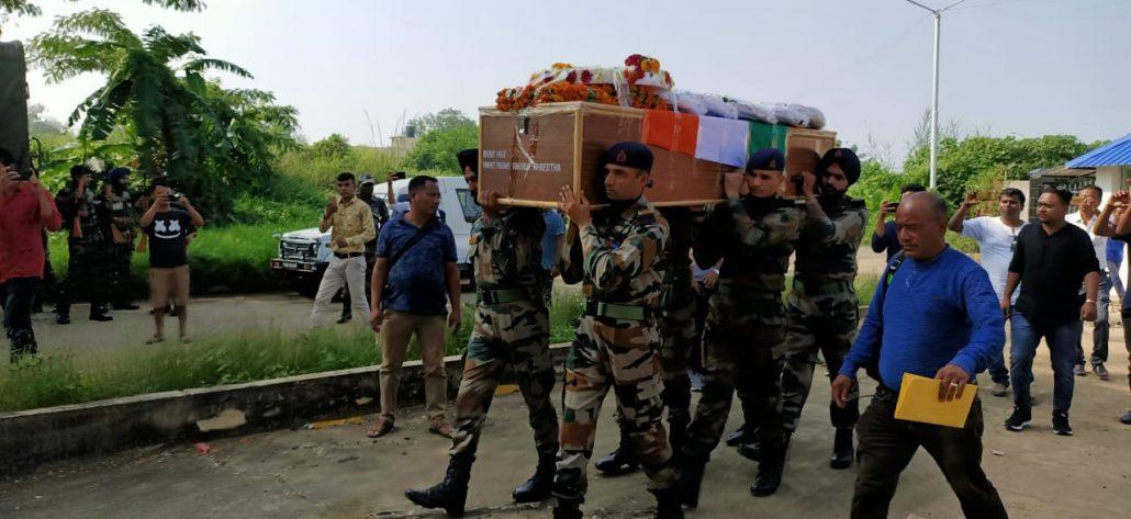 Mortal remains of Padam Bahadur Shrestha