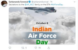 Northeast leaders shower wishes on Indian Air Force Day 2