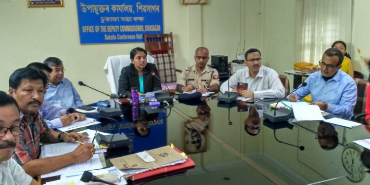 Sivasagar deputy commissioner Dr M S Lakshmi Priya charing the District Road Safety Committee meeting on October 24, 2019. Image: Northeast Now