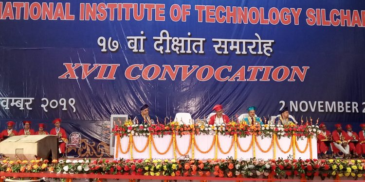 Degrees were awarded to as many as 886 students on Sunday during 17th Convocation of NIT, Silchar