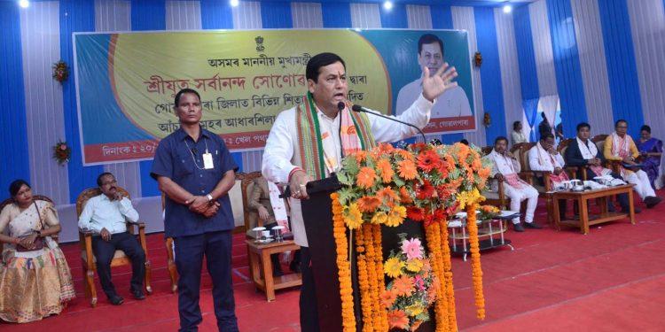 Assam CM Sonowal in Goalpara