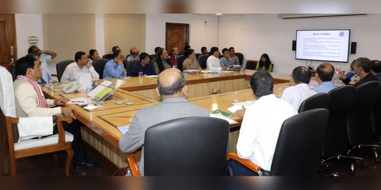Assam CM Sarbananda Sonowal in an NSS meeting in Guwahati on Monday