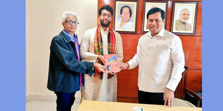 Copy of 'Winged Horse' being gifted to Assam CM