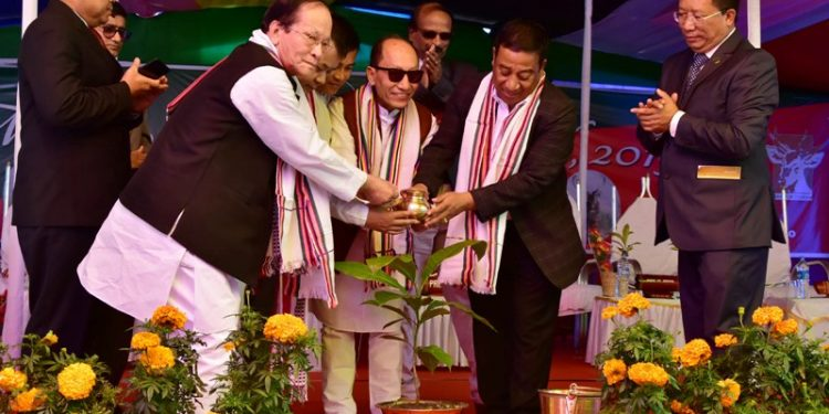 Manipur forest and environment minister Thounaojam at the festival.