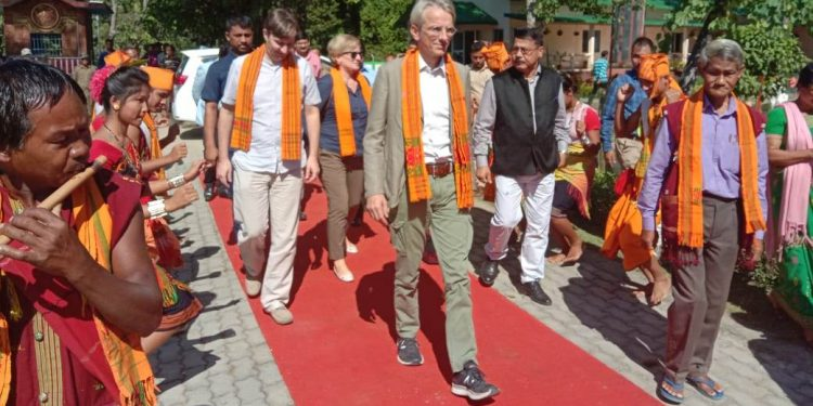 The delegation has headed straight to Kaziranga National Park to see on spot activities.