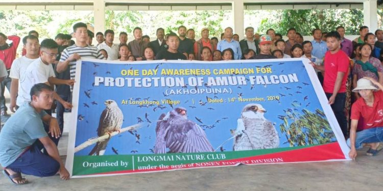 The awareness programme was organized to spread the importance of protecting the Amur falcons.