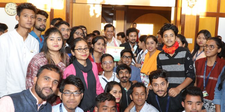 Assam CM interacts with GU students
