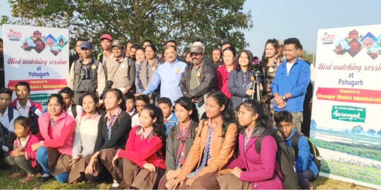 Bird-watching team in Sivasagar