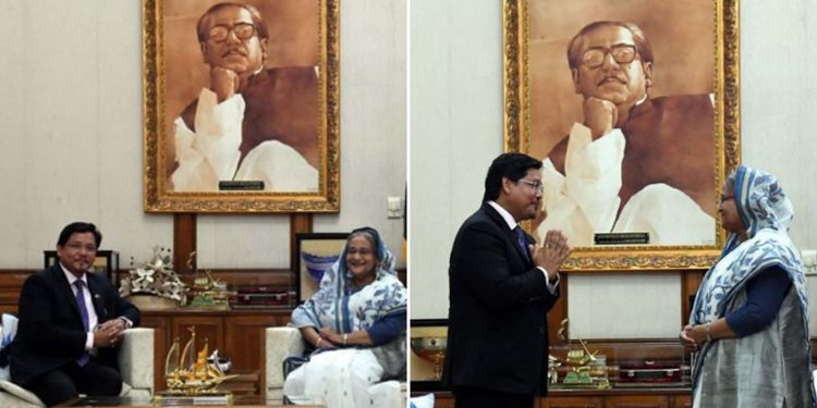 Meghalaya CM meets Bangladesh PM 1