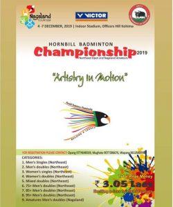 Kohima: Hornbill Badminton C'ship from Dec 4 3