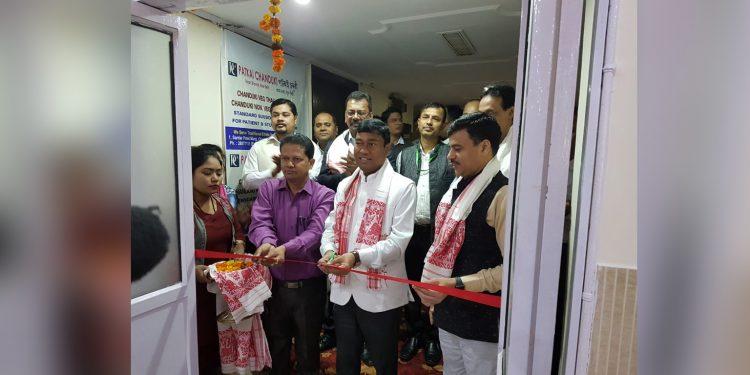 Union minister Rameswar Teli inaugurating the restaurant. Image credit: Twitter