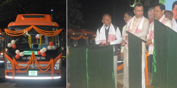 The buses were introduced under Assam State Transport Corporation (ASTC) in a programme at Assam Administrative Staff College in Guwahati.