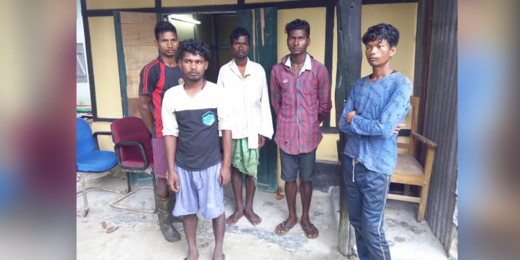 Arrested poachers and encroachers in forest officials' custody. Image: Northeast Now